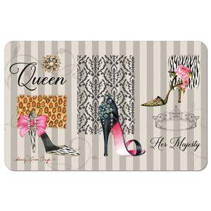"""Queen Boutique"" Inspirational Floor Mat"